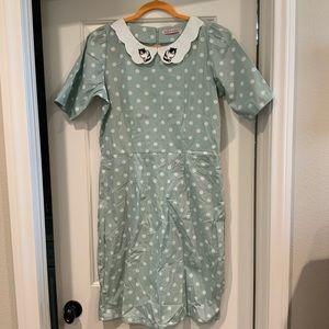 Trollied Dolly Mint Green Dress XL